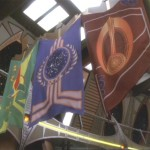 """Fest-Flagge der Föderation: Verwendungin der Serie (DS9 6.07 """"Klingonische Tradition"""")"""