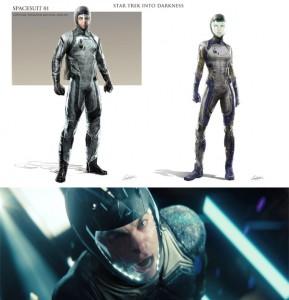 Star Trek Into Darkness Concept Art: Kirks und Khans Space Jump Suit - Design von Constantine Sekeris