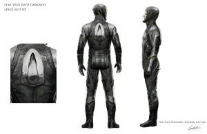 Star Trek Into Darkness Concept Art: Kirks und Khans Space Jump Suit - Design von Keith Christensen