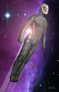 Star Trek Into Darkness Concept Art: Cumberbatch Space Suit - Design von Keith Christensen