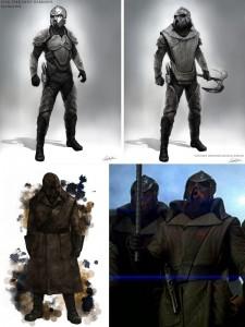 Star Trek Into Darkness Concept Art: Klingonische Kostüme - Design von Constantine Sekeris