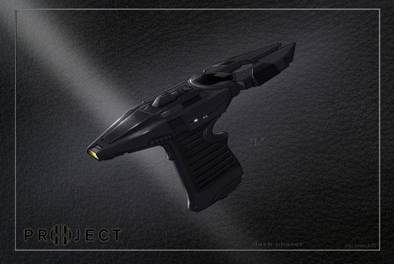 Entwurf von John Eaves für Star Trek Into Darkness: dunkler Enterprise-Phaser