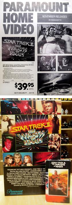 Star Trek II: Der Zorn des Khan - Anzeigeplakat für VHS-Videokassette